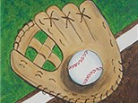 Play Ball! Kids Canvas Painting. Sunday, August 5th 2018