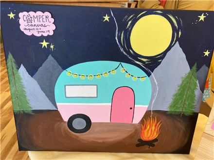 Summer Camp Camper Canvas Wednesday, August 12th 10am-12pm