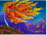 Fall Birch Tree - Canvas - Paint and Sip
