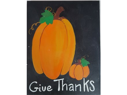 Adult Class Give Thanks Canvas Painting 10/17