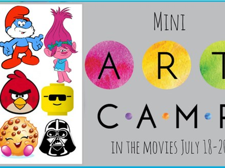 Mini-Art Camp: In The Movies July18-20