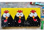 Funky Chickens Paint Class - Perry