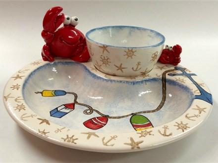Friends, Feast, Masterpiece - Crab Plate Set 06/05