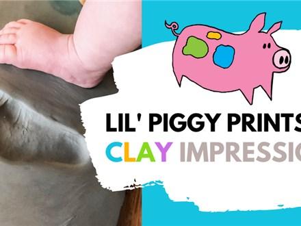 Lil' Piggy Prints - Clay Impressions