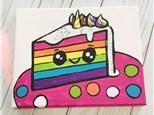 Unicorn Cake Canvas Class for Kids