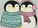 Kids Canvas - Penguin Love - Friday, February 1