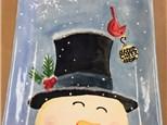 Adult Pottery - Snowman Platter - 12.27.17