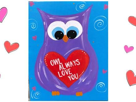 Mt. Washington Kid's Owl Canvas - Feb 7th