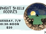 Pottery Patch Camp Tuesday, 7/9 (10:30-NOON) POTTERY: Midnight Skully Doodles