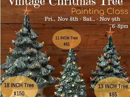 Vintage Christmas Tree Painting Class Session 1: Nov 8th