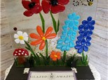 Fused Glass Summer Flower Panel