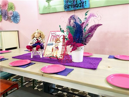 Fancy Nancy Soiree: $285+ tax ($75 non-refundable deposit)