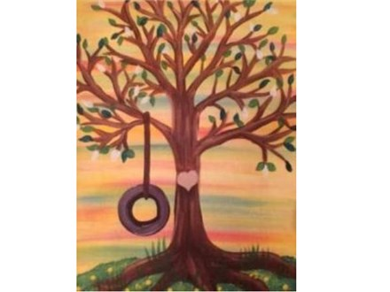 Canvas & Wine Night!  Tree with Heart! 2/2/17