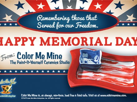 Memorial Day Painting @ Color Me Mine