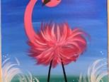 Flamingo Canvas - June 15th