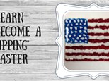 American Flag Glass Fusion