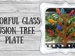 Glass Fusion Colorful Tree