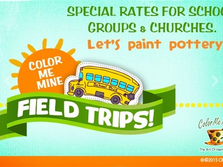 Field Trips at Color Me Mine!