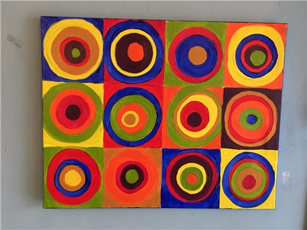 Kandinsky Inspired Canvas -$30 bring a friend and their price is $25