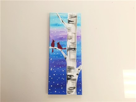 Winter Cardinals (planetarium fundraiser)  Canvas Class