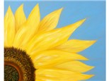 Sunflower (16x20 canvas) *choice color for background.