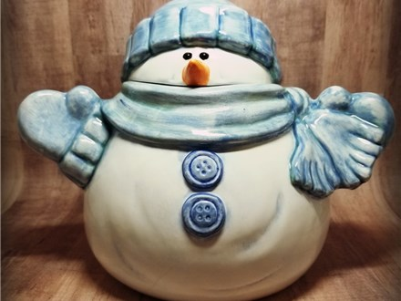 Snowman Treat Jar - Ready to Paint