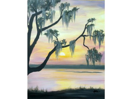 Summer Marsh Sunset (16x20)