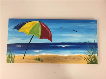 Beach Umbrella (Adult) Canvas Class