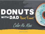Donuts with Dad at Color Me Mine of Ridgewood
