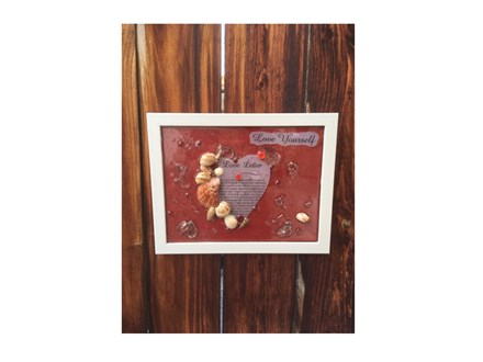 Mixed Media Class: Love Yourself Resin Frame