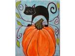 Fall Pumpkin 16x20 *Add cat or raven