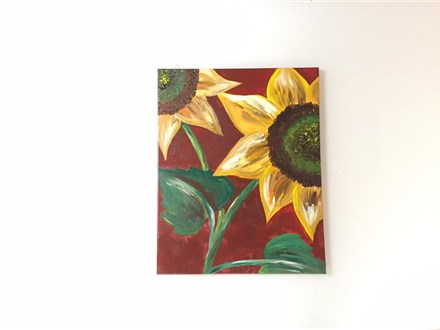 Sunny Sunflower (adult) Canvas Class
