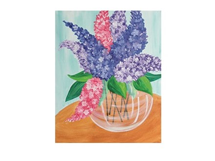 Lilac Bouquet - Senior Citizen Canvas