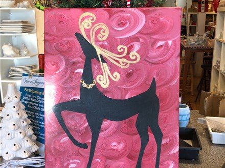 Join us to paint this reindeer!