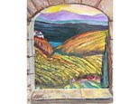 Dive into Reno's May Wine Walk with this elegant vineyard themed painting