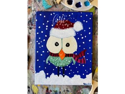 Christmas Bird Paint Class