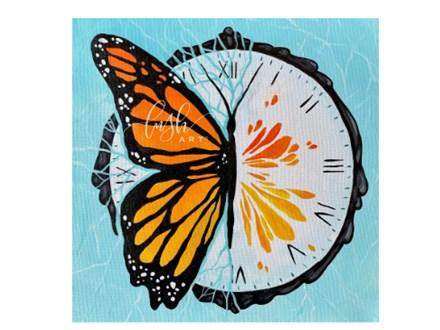 Butterfly Clock Paint Class - WR