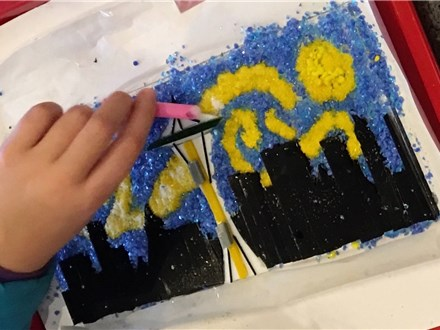 Recreate Van Gogh's Starry Nights- Fused Glass