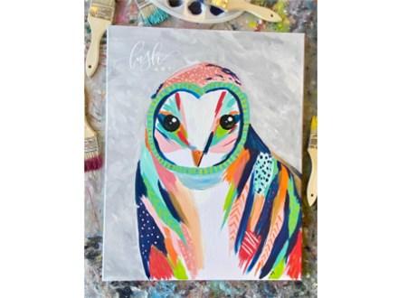 Patterned Owl Paint Class
