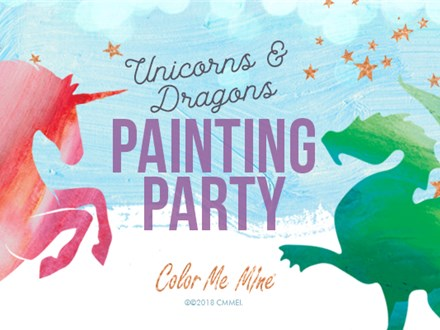 MAGICAL UNICORN and DRAGON PAINTING PARTY! - Jan 26th