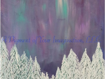 Northern Lights Canvas Paint and Sip