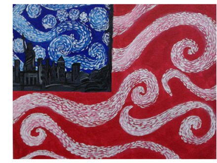 """Starry Night"" Flag - Paint & Sip - June 2"