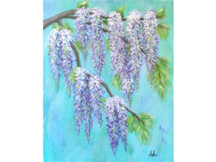 Wisteria - 16x20 canvas