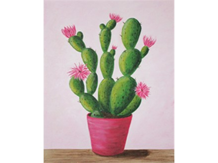 """""""Cactus in Bloom"""" Canvas Class, September 5th"""