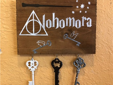 Kid's Board Art - Alohomora Key Holder - Morning Session - 09.26.18