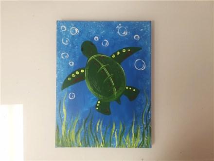 Sea Turtle (Kids ages 6+) Canvas Class