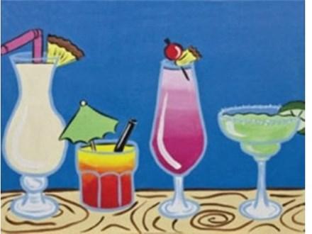 Canvas & Wine Night!  It's 5 O'Clock Somewhere!  7/18/16