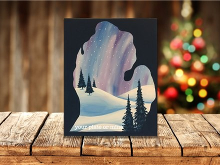 """""""Winter in Michigan"""" Canvas Class ages 21 & up 12/27/19"""