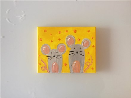 Mini Mice (mommy/daddy and me ages 4+) Canvas Class