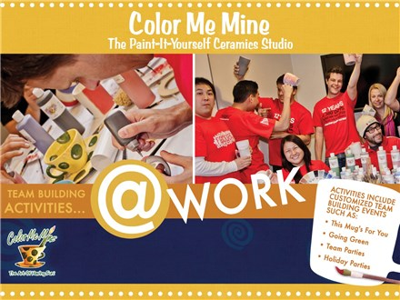 Team Building event at Color Me Mine!!!